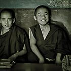 Young Buddhist Monks by Valerie Rosen