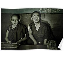 Young Buddhist Monks Poster