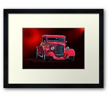 Operating in the Red  - 1934 Plymouth Coupe Framed Print