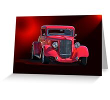 Operating in the Red  - 1934 Plymouth Coupe Greeting Card