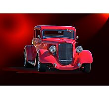 Operating in the Red  - 1934 Plymouth Coupe Photographic Print