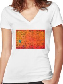 GINGERS Women's Fitted V-Neck T-Shirt
