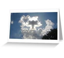 Angels and Butterflies in the Clouds Greeting Card