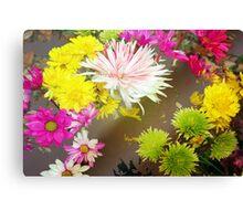 Tumbling flowers Canvas Print