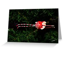 flying santa - greeting card Greeting Card