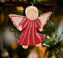 christmas angel - greeting card by davidprentice