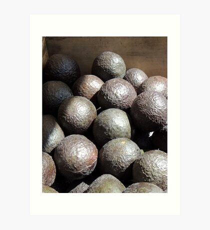 Avocado Balls Art Print