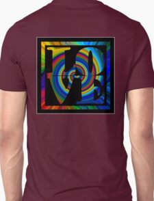 retro color spiral square love t (large back) T-Shirt