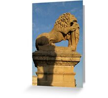 The Lion By The Gate Greeting Card