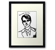 Hannibal Lecter Sketch Framed Print