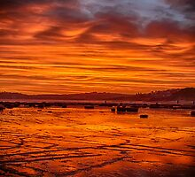 Long Reef on fire by renekisselbach