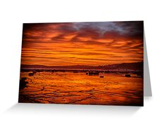 Long Reef on fire Greeting Card