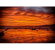 Long Reef on fire Photographic Print