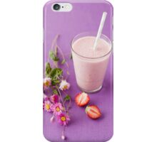 Strawberry milk shake iPhone Case/Skin