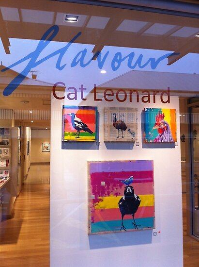 Window at the Murray bridge Regional Gallery. S.A. by Cat Leonard
