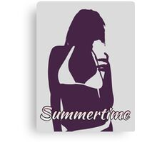 Summertime: Girl 2 Canvas Print