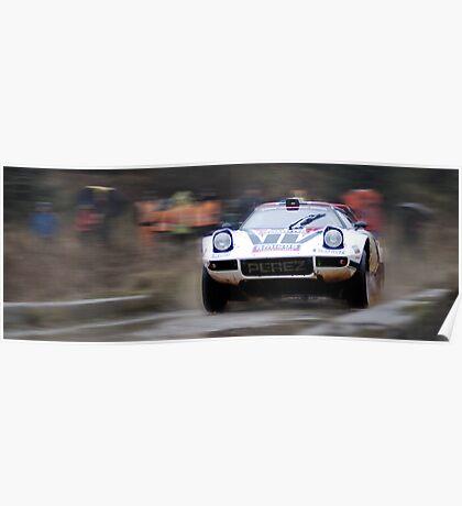 Lancia Stratos HF Rally Car Poster