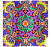 The Summer Kaleidoscope, Fractal Patterned Abstract Poster