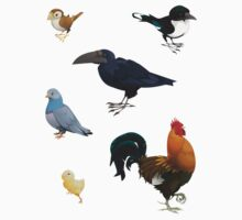 6 Bird Stickers by JackBQuick