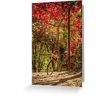 A Classic Autumn Ride, Lavendula, Daylesford, Victoria Greeting Card
