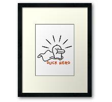 Duck Hero Framed Print