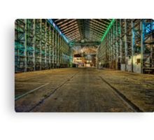 Abandoned Warehouse Canvas Print