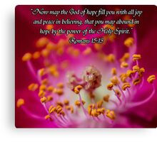 Macro Rose w/Scripture Canvas Print