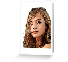 Face 16 Greeting Card