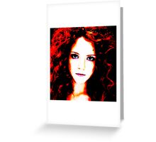 Face 18 Greeting Card
