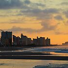 Coastline at Sunrise in Myrtle Beach by donaldhovis
