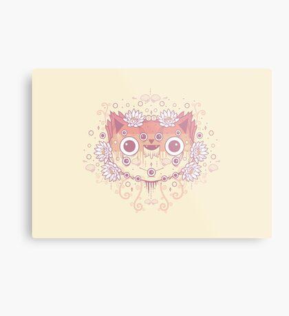 Cat flower Metal Print