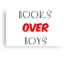 Books over Boys Canvas Print