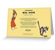 Puzzle 008 - Puzzlette's Problem Greeting Card