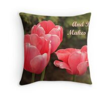 And Baby Makes Three Throw Pillow