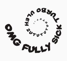Omg That Fully Sick Turbo Uleh - Tee / Sticker Gag Design - Black Baby Tee