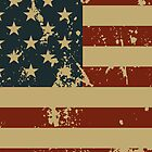 Independence Day America Grunge Flag iPhone 4 Case / iPad Case  by CroDesign