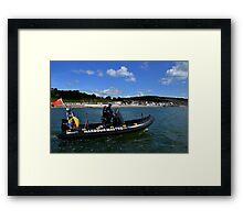 Patrolling Our Shores At Lyme ,Dorset, UK Framed Print