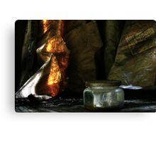 2.6.2013: Old Glass Jar Canvas Print
