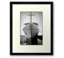 Ship in Heavenly Light Framed Print