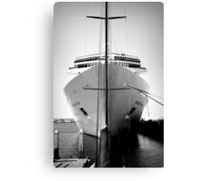 Ship in Heavenly Light Canvas Print