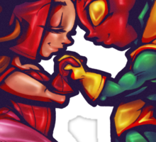 Scarlet Witch Loves The Vision Sticker