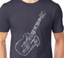 Abstract Music - White 45 Degrees Unisex T-Shirt