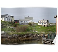 Peggy's Cove Homes Poster