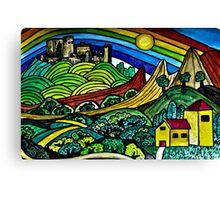 The Castles Rainbow Canvas Print