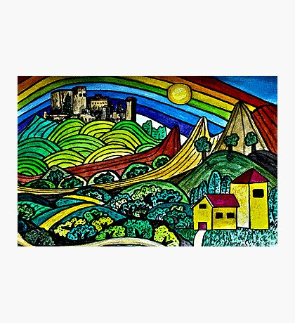 The Castles Rainbow Photographic Print