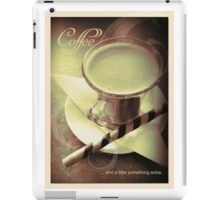Coffee - and a little something... iPad Case/Skin