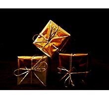 Golden Presents Photographic Print
