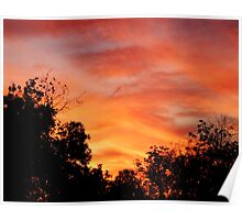 Texas Sky at Sunset Poster