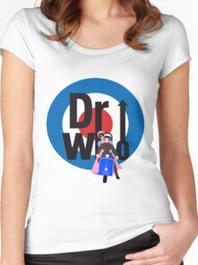 The Dr WHo Women's Fitted Scoop T-Shirt