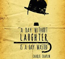 A day without laughter - charlie chaplin - iphone case by Dei Hendrick